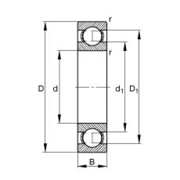 FAG Deep groove ball bearings - 6072-M