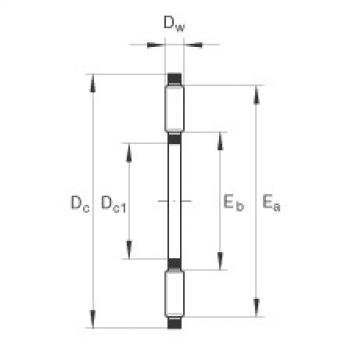 FAG Axial needle roller and cage assemblies - AXK6590