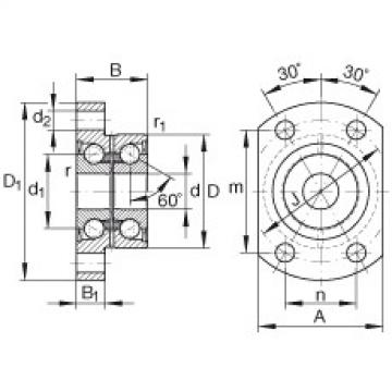 FAG Angular contact ball bearing units - ZKLFA1050-2RS