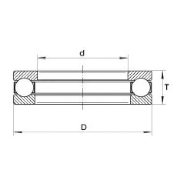 FAG Axial deep groove ball bearings - 2281