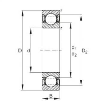 FAG Deep groove ball bearings - 61913-2RSR