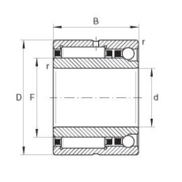 FAG Needle roller/angular contact ball bearings - NKIA5913-XL