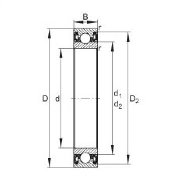 FAG Deep groove ball bearings - 61813-2RZ-Y