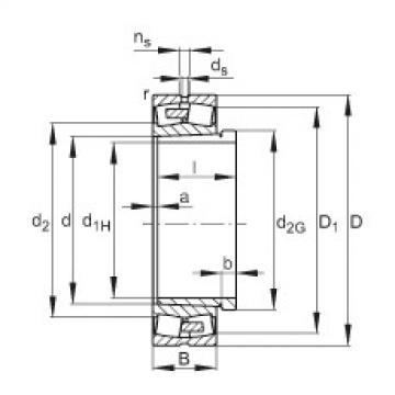 FAG Spherical roller bearings - 23076-BEA-XL-K-MB1 + AH3076G-H