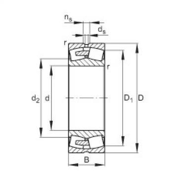 FAG Spherical roller bearings - 23172-BEA-XL-MB1