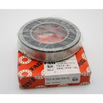 FAG 7212-B-2RS-TVP-UL SINGLE ROW ANGULAR CONTACT BEARING 60 MM X ID X 110 MM OD