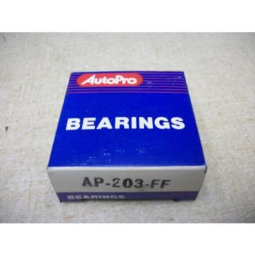 Auto Pro 203FF  6203-2RS Sealed Single Row Ball Bearing