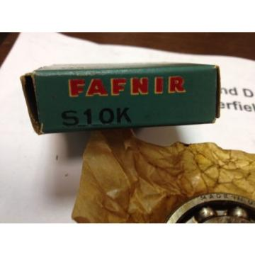 "Fafnir S10K, Single Row Radial Bearing, 1"" Bore, 2"" OD, 3/8"" Width, NOS, USA"
