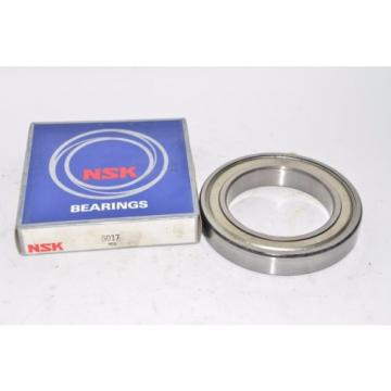 NSK 6017 Deep Groove Ball Bearing, Single Row, Open 85mm Bore, 130mm OD, 22mm