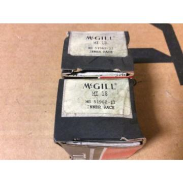 2-McGILL bearings#MI 18 ,Free shipping lower 48, 30 day warranty