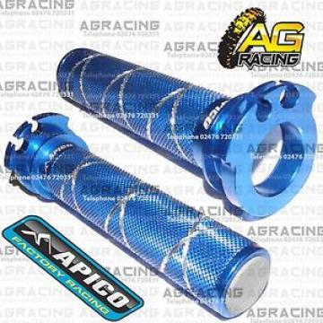 Apico Blue Alloy Throttle Tube With Bearing For KTM XC-F 350 2011 MX Enduro