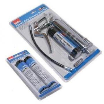 PISTOL GRIP MANUAL GREASE GUN SET WITH 3 GREASE CARTRIDGES HILKA