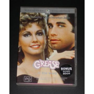 Grease - John Travolta, Olivia Newton John + Bonus Song Book Region 4 DVD, 2002