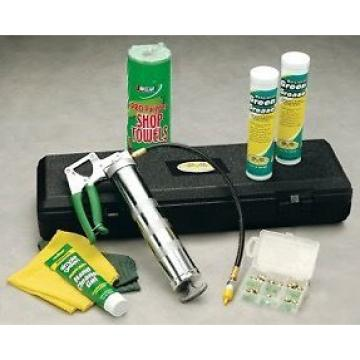 Professional All-in-One Green Grease Gun Kit in carrying case with handle LOOK